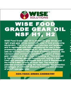 Food Grade Gear Oil (NSF Registration Pending)