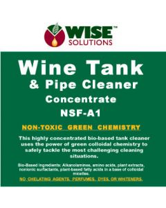 Wine Tank & Pipe Cleaner Concentrate Front Label